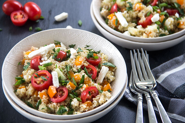 Feta-Tomato-Greek-Quinoa-Salad