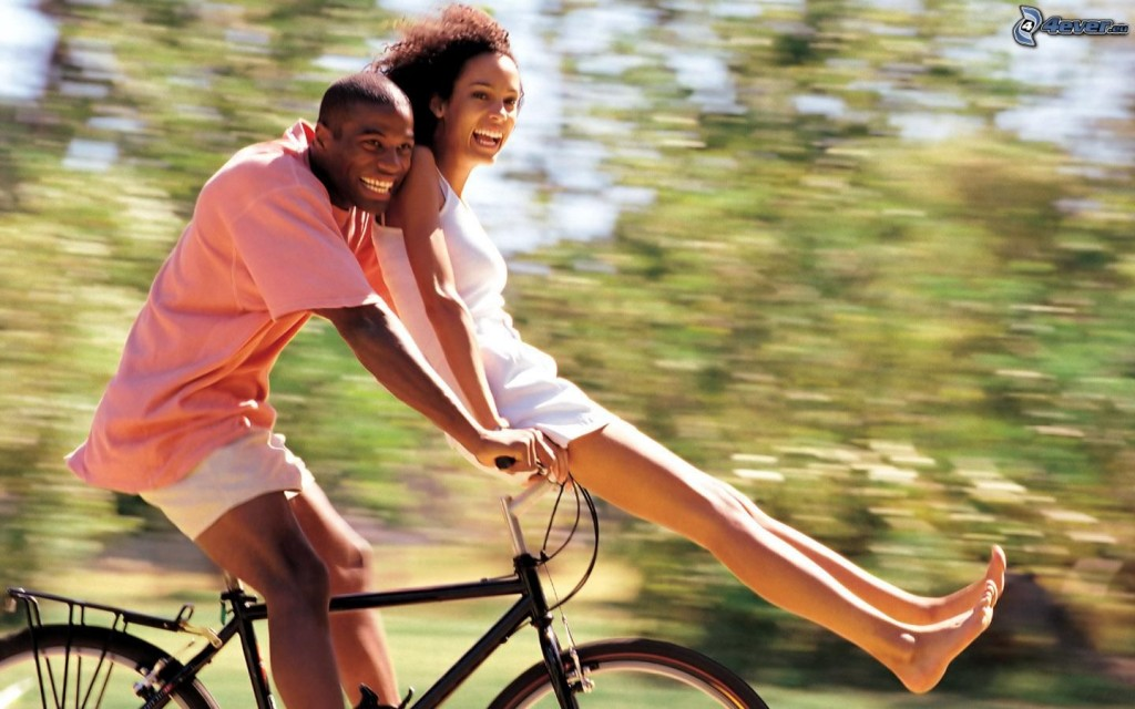 happy-couple,-blacks,-joy,-bicycle-153549