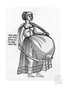 pregnant-woman-using-a-hoop-to-support-burgeoning-womb-in-ambrose-pare-1575_i-G-69-6926-MPIX100Z