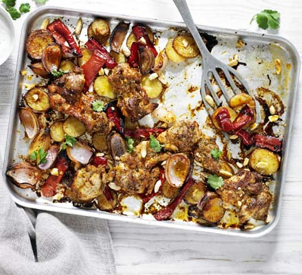 Male fertility recipe chicken asparagus pepper almond traybake photo bbcgoodfood forumfinder Images